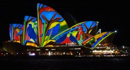 Sydney Opera House during the annual Vivid Lights Festival