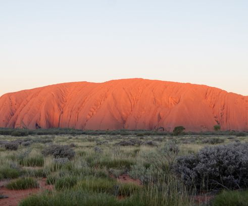 Sunset on Uluru (Ayers Rock) Australia